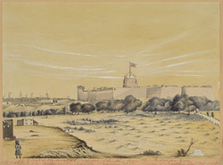 View of the Fort, Hyderabad (Sind).  December 1851